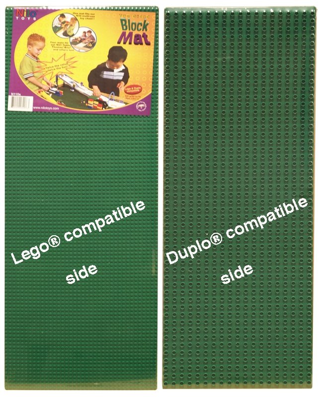 N110 NIlo® Lego Baseplates In Green.